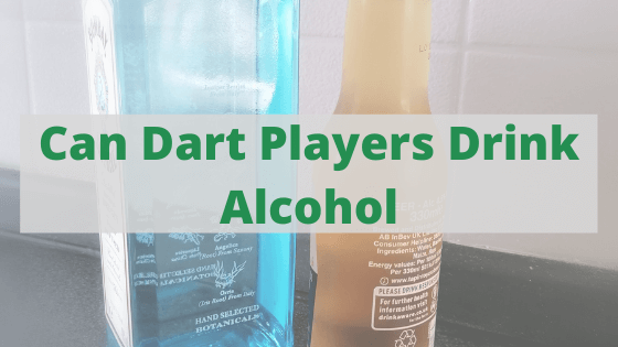 can dart players drink alcohol